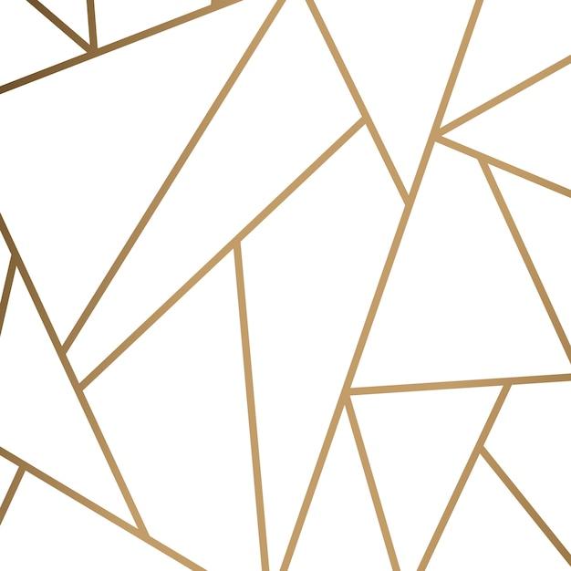 Modern mozaïekbehang in wit en goud Gratis Vector