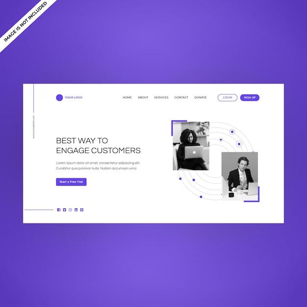Modern multifunctioneel gebruik voor multifunctionele pagina's voor multifunctionele webpagina's Premium Vector
