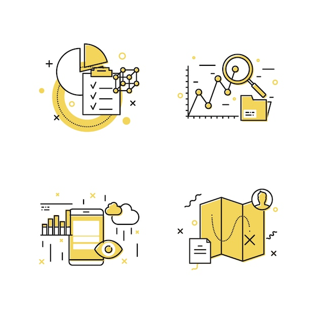 Modern pictogram decorontwerp Premium Vector