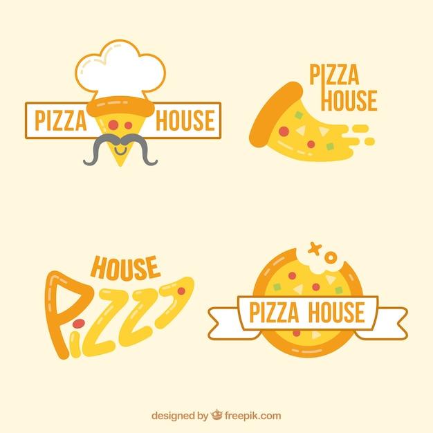 Modern pizzeria logos Gratis Vector