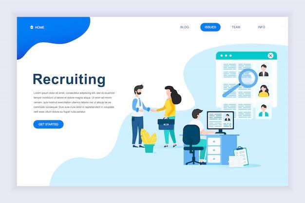 Modern plat ontwerpconcept van business recruiting Premium Vector
