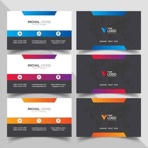 Modern professioneel visitekaartje Gratis Vector
