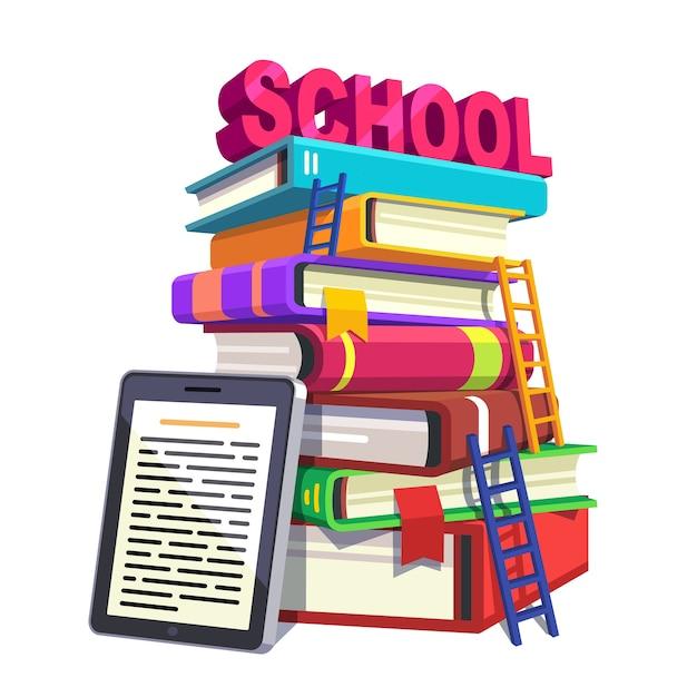Modern schoolonderwijs en kennisconcept Gratis Vector
