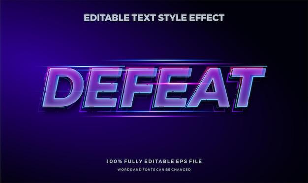Modern sportgame-thema. modern bewerkbaar tekststijleffect. Premium Vector