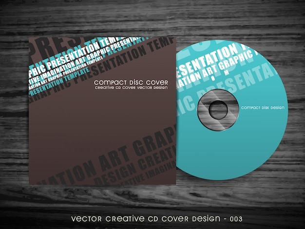 Modern stijl cd cover ontwerp Gratis Vector