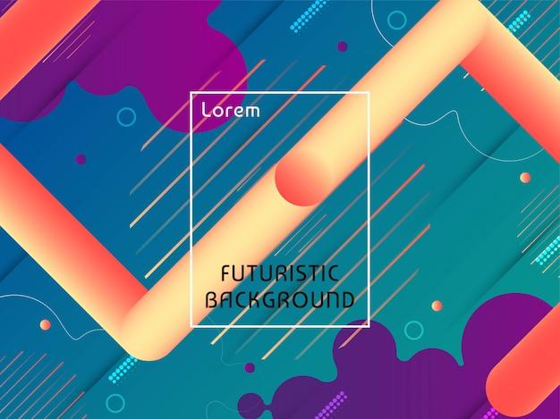 Modern techno futuristisch ontwerp als achtergrond Gratis Vector