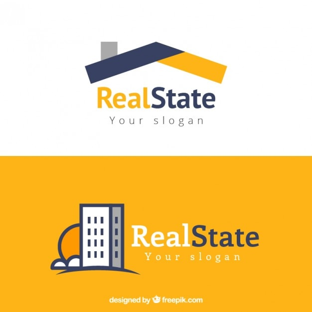Modern vastgoed logo Gratis Vector