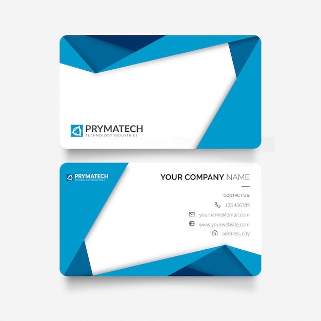 Modern visitekaartje met papercut-vormen Gratis Vector