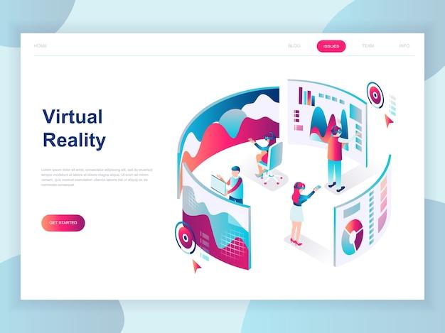 Modern vlak ontwerp isometrisch concept van virtual reality Premium Vector