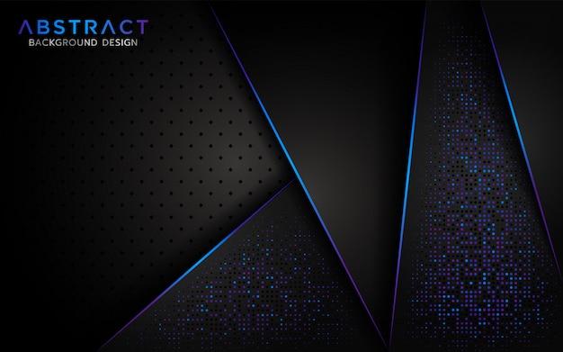 Moderne abstracte achtergrond met aurora glitter deeltje Premium Vector
