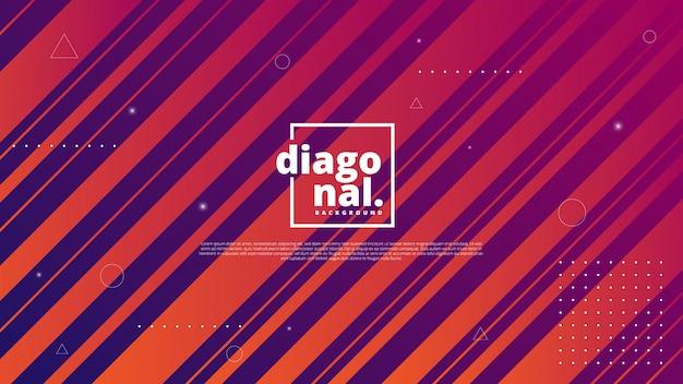 Moderne abstracte achtergrond met diagonale streep of lijnelement Premium Vector