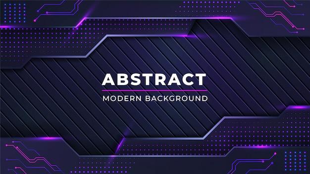 Moderne abstracte achtergrond met lijnen van combinatie de gloeiende roze punten Premium Vector