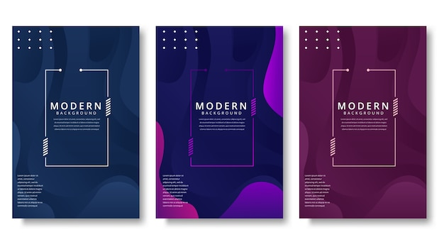 Moderne abstracte covers set Premium Vector