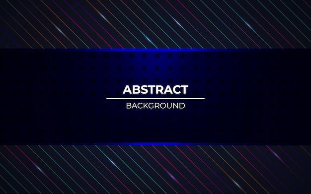Moderne abstracte donkere achtergrond met rgb-lichteffect Premium Vector