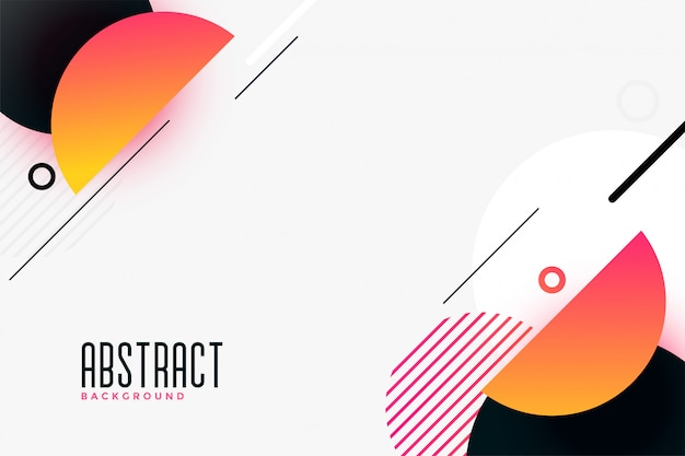 Moderne abstracte halve cirkelachtergrond Gratis Vector