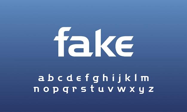 Moderne abstracte lettertype alfabet kleine set Premium Vector