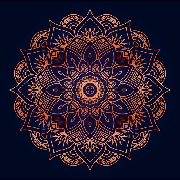 Moderne abstracte mandala achtergrond met gouden arabesque arabische islamitische oost-stijl Premium Vector