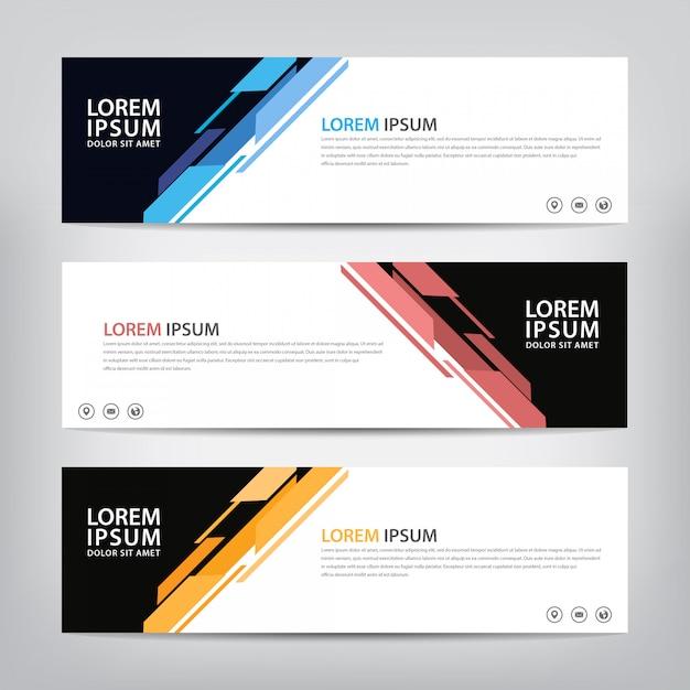 Moderne abstracte sjabloon voor spandoek. Premium Vector