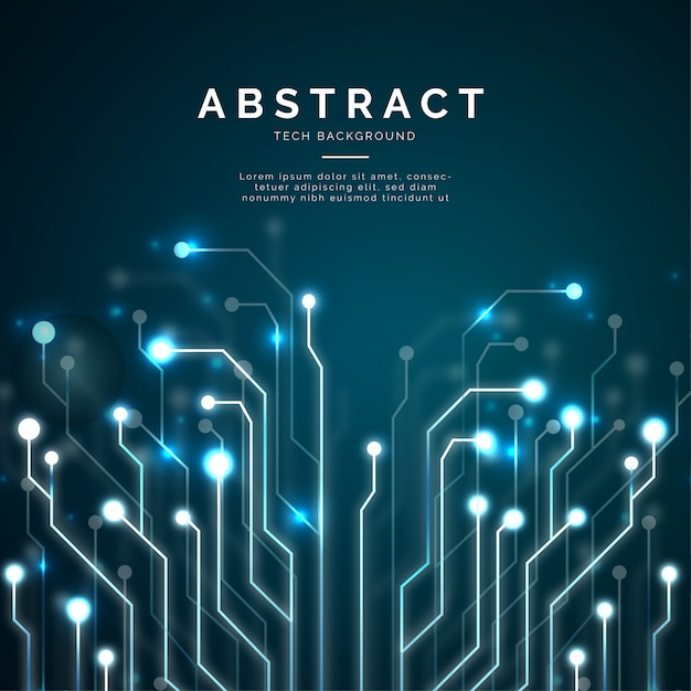 Moderne abstracte technologieachtergrond Gratis Vector