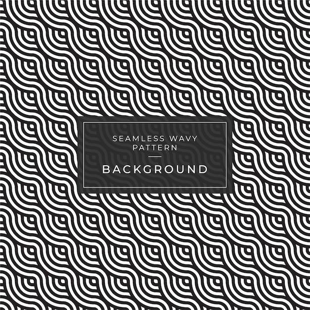 Moderne abstracte zwart-wit gestreepte 3d golven. optische illusie. ocean wave art patroon voor print banner en web Premium Vector