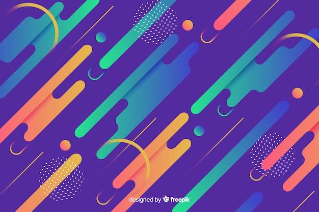 Moderne achtergrond met gradiënt dynamische vormen Gratis Vector