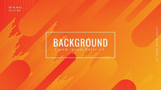 Moderne achtergronden met trendy kleurgradatie Premium Vector