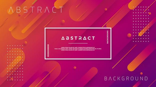 Moderne achtergronden met trendy kleurgradatiesamenstellingen. Premium Vector