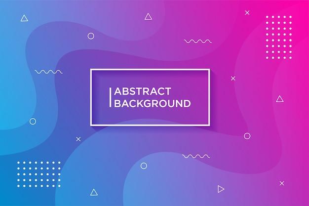 Moderne achtergronden. vloeibare gradiënt vormen samenstelling. Premium Vector