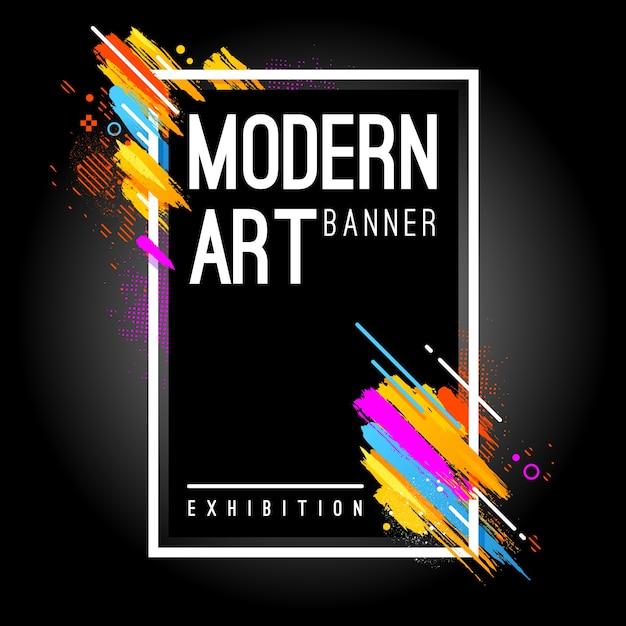 moderne banner Gratis Vector
