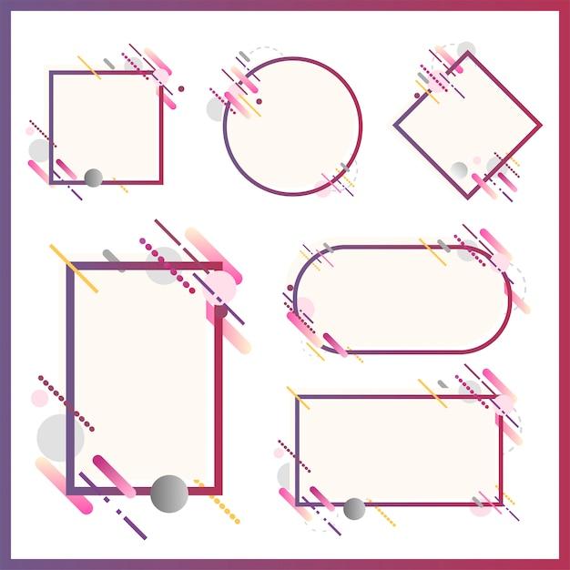 Moderne banners in verschillende vormen instellen illustratie Gratis Vector