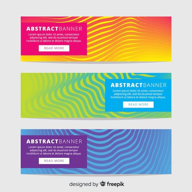 Moderne banners met abstract ontwerp Gratis Vector