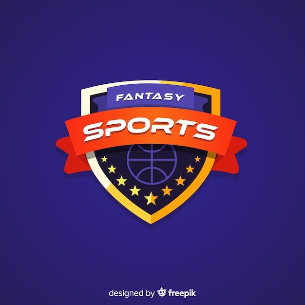 Moderne basketbal team logo sjabloon Gratis Vector