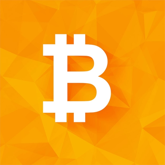 Moderne bitcoin achtergrond Gratis Vector