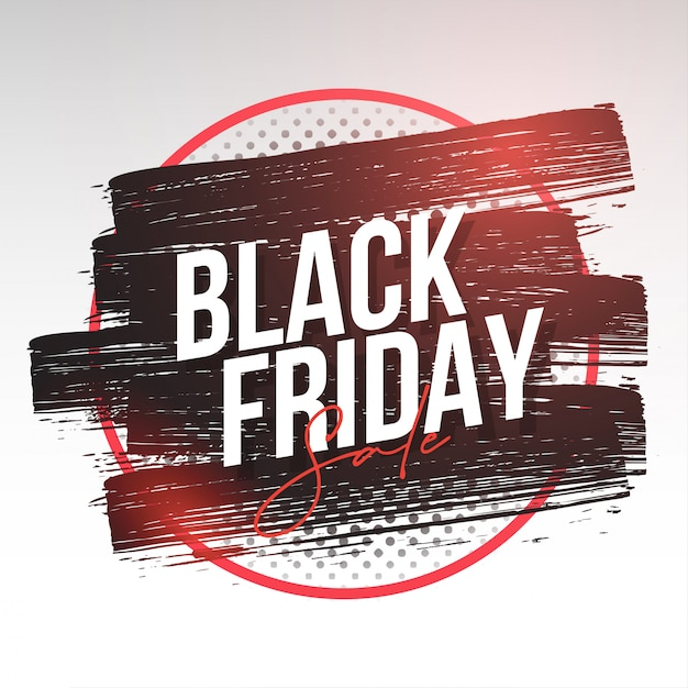 Moderne black friday-banner met splash Gratis Vector