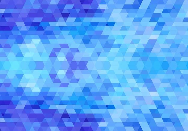 Moderne blauwe geometrische vormen achtergrond Gratis Vector