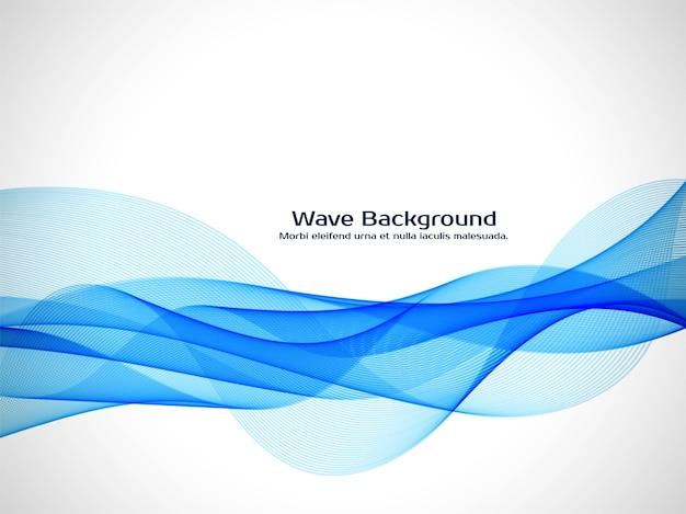 Moderne blauwe golf decoratieve achtergrond Gratis Vector