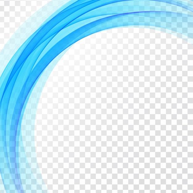 Moderne blauwe golf transparante achtergrond Gratis Vector
