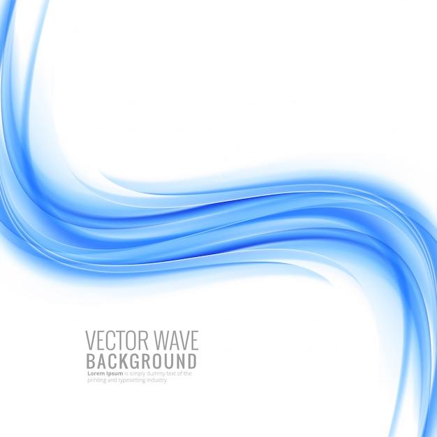 Moderne blauwe golfachtergrond Gratis Vector