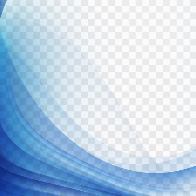 Moderne blauwe golvende achtergrond Gratis Vector
