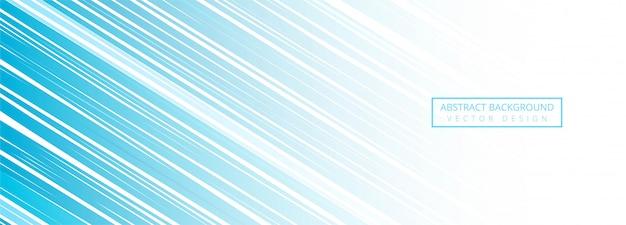 Moderne blauwe lijnen banner achtergrond Gratis Vector