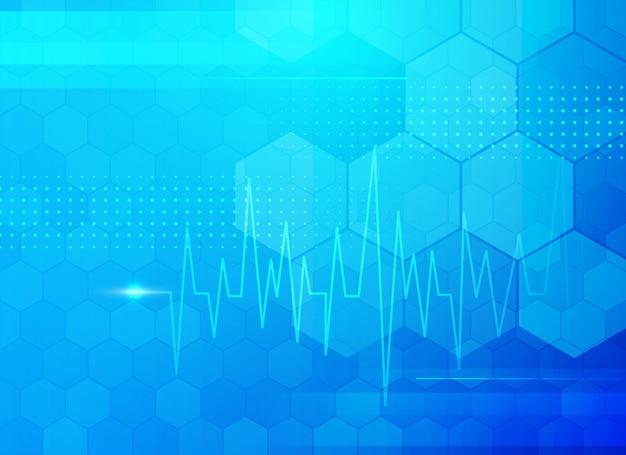 Moderne blauwe medische achtergrond Gratis Vector