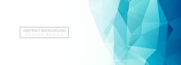 Moderne blauwe veelhoek banner achtergrond Gratis Vector