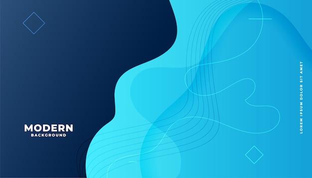 Moderne blauwe vloeiende gradiëntachtergrond met ronde vormen Gratis Vector