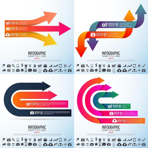 Moderne brochure technologie rapporteer statistische infograph Premium Vector