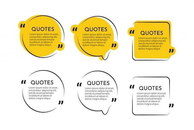 Moderne citaten communicatie en getuigenis sjabloon ontwerpsjabloon. Premium Vector