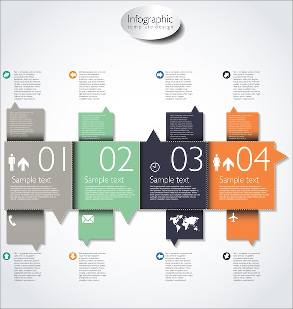 Moderne design lay-out Premium Vector