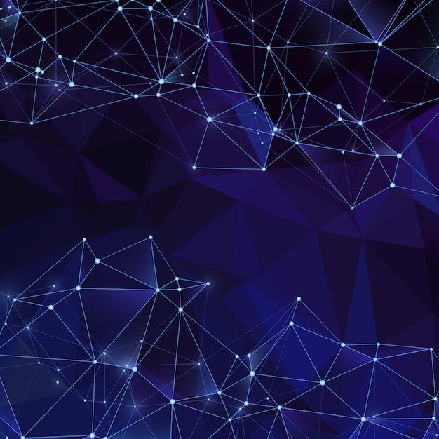 Moderne digitale kristallen achtergrond met diamant textuur Premium Vector