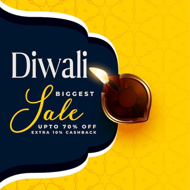 Moderne diwali verkoop banner ontwerpsjabloon Gratis Vector