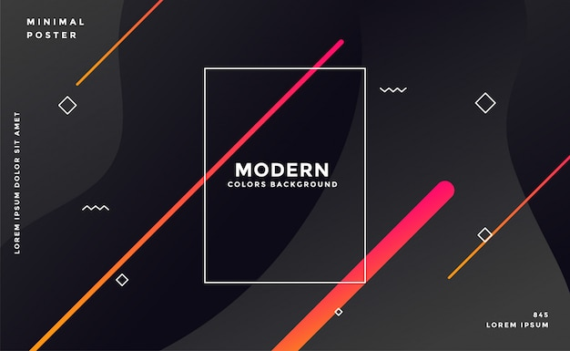 Moderne donkere memphis stijl zwarte achtergrond Gratis Vector