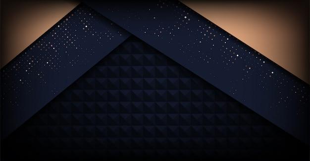 Moderne donkere minimalistische luxe achtergrond Premium Vector